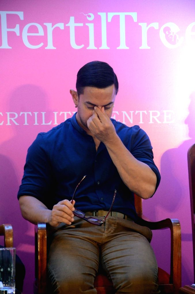 "Actor Aamir Khan during the launch of ""Jaslok FertilTree"" International Fertility Centre in Mumbai on Aug 15, 2016. - Aamir Khan"
