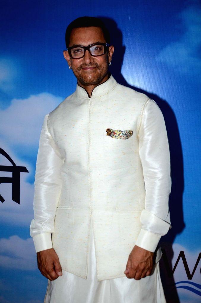 Actor Aamir Khan during The Satyamev Jayate Water Cup Awards 2016, in Mumbai, on Aug 15, 2016. - Aamir Khan