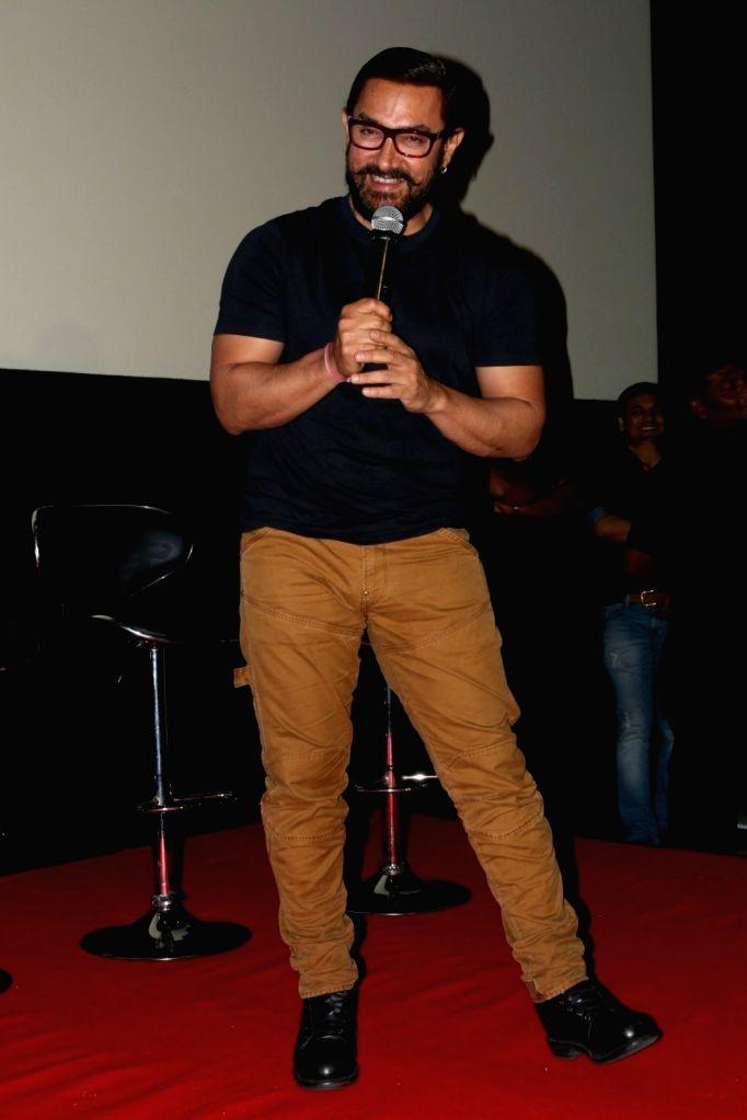 Actor Aamir Khan during the song launch of film Dangal, in Mumbai on Nov 12, 2016. - Aamir Khan