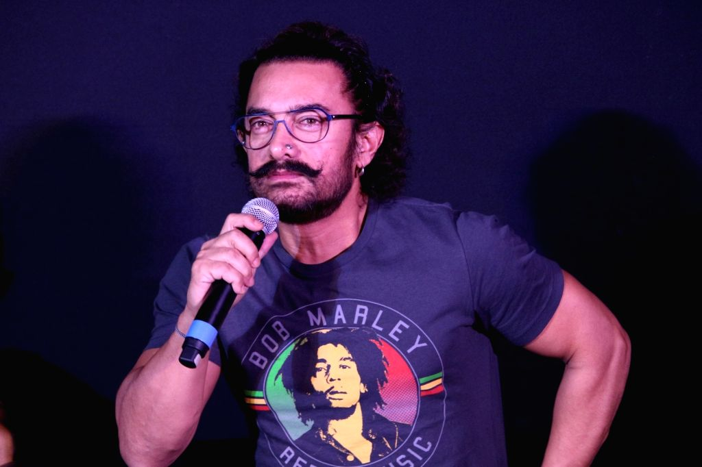 "Actor Aamir Khan during the song launch of his upcoming film ""Secret Superstar"" in Mumbai on Aug 21, 2017. - Aamir Khan"