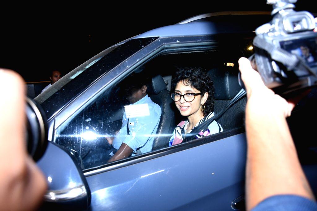 Actor Aamir Khan's wife Kiran Rao at the birthday bash of actor Ranbir Kapoor, in Mumbai on Sep 27, 2019. - Aamir Khan, Kiran Rao and Ranbir Kapoor