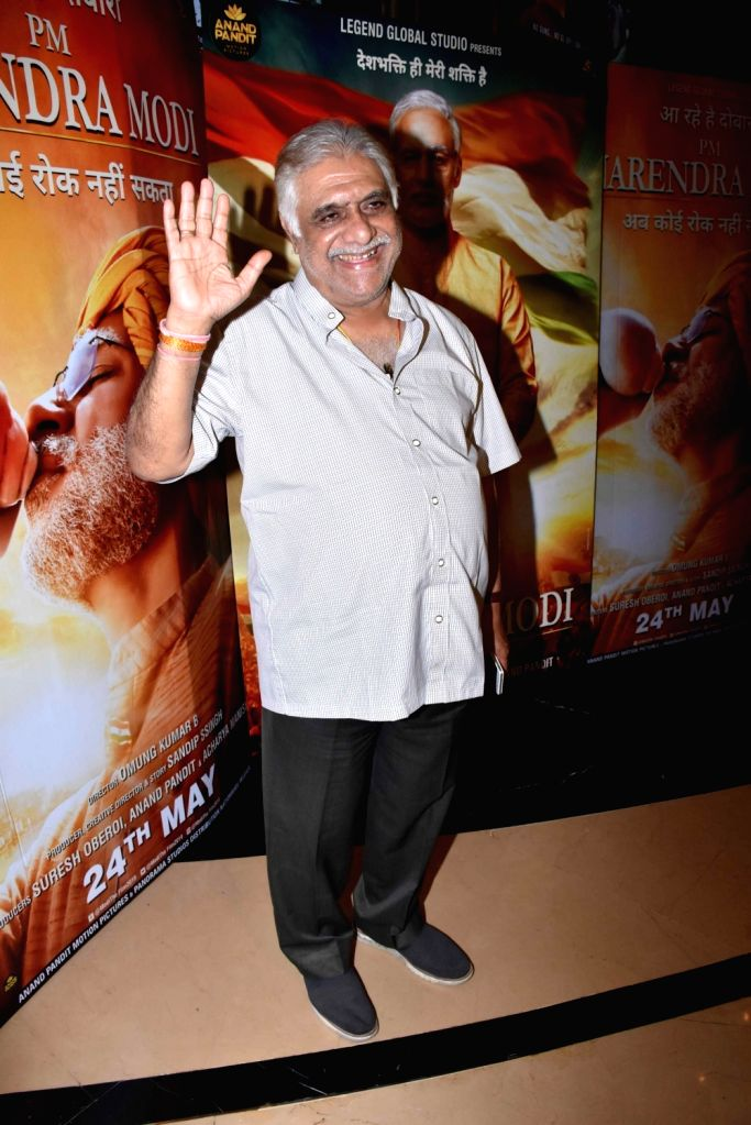 "Actor Aanjjan Srivastav at the screening of the upcoming film ""PM Narendra Modi"" in Mumbai on May 23, 2019. - Aanjjan Srivastav and Narendra Modi"