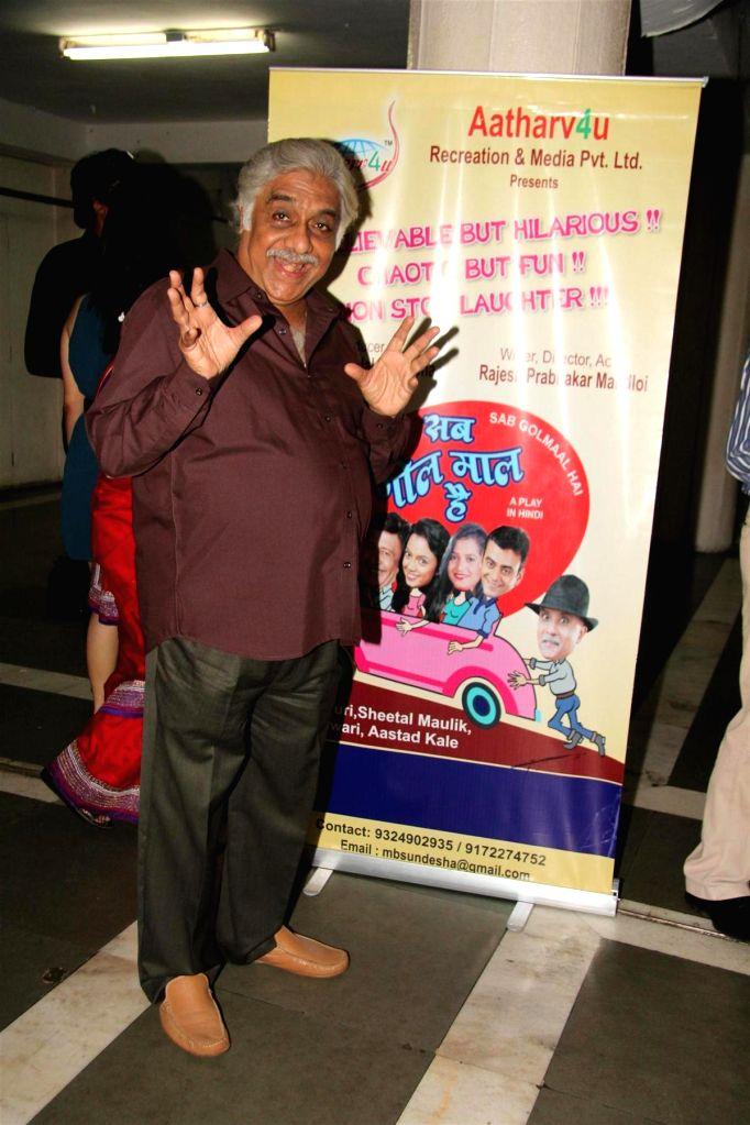Actor Aanjjan Srivastav during the party to celebrate the success of Hindi play `Sab Golmaal Hai`, in Mumbai, on July 5, 2015. - Aanjjan Srivastav