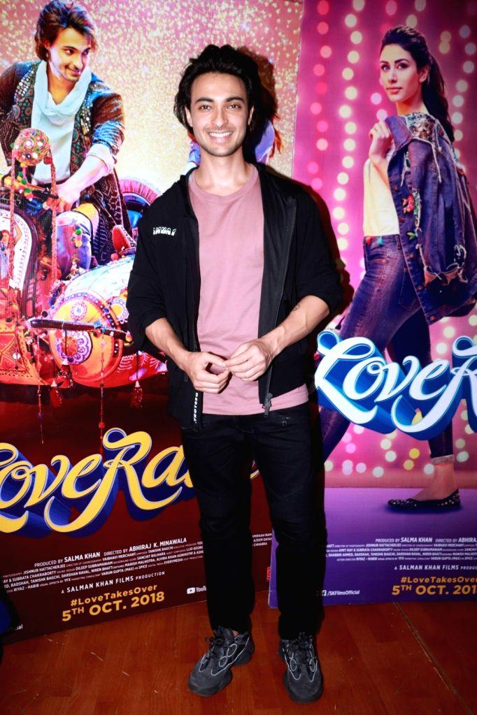 "Actor Aayush Sharma at the promotion of his upcoming film ""Loveratri"" in Mumbai on Aug 29, 2018. - Aayush Sharma"