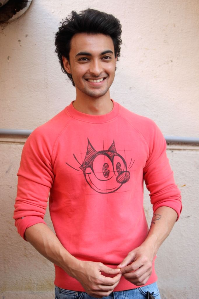 "Actor Aayush Sharma at the promotion of his upcoming film ""Loveratri"" in Mumbai on Sept 11, 2018. - Aayush Sharma"