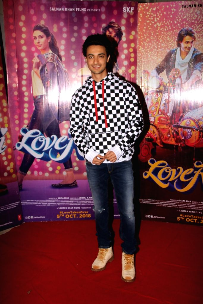 """Actor Aayush Sharma during the promotions of his upcoming film """"Loveratri"""", in Mumbai on Sept 15, 2018. - Aayush Sharma"""