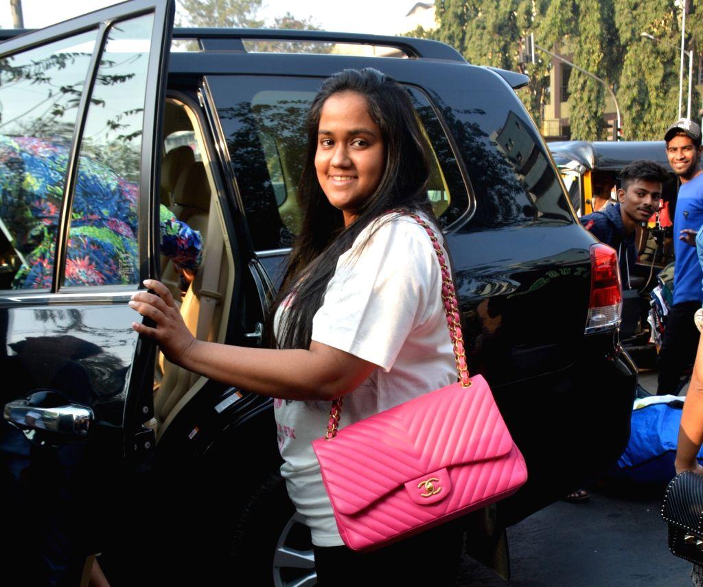 Actor Aayush Sharma's wife Arpita Khan Sharma seen at Bandra in Mumbai on Feb. 03, 2019. - Aayush Sharma and Arpita Khan Sharma