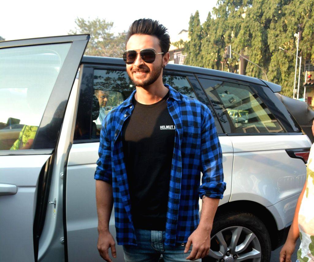 Actor Aayush Sharma seen at Bandra in Mumbai on Feb. 03, 2019. - Aayush Sharma