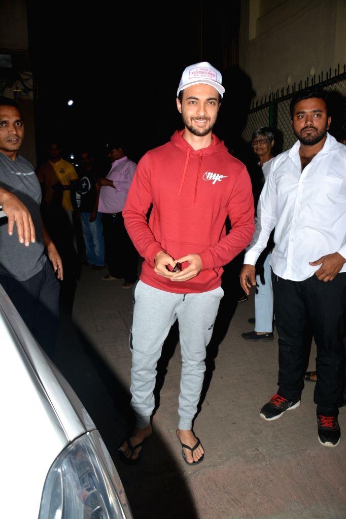Actor Aayush Sharma seen at Bandra, Mumbai on Dec 10, 2018. - Aayush Sharma