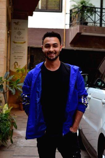 Actor Aayush Sharma seen at Juhu in Mumbai on March 16, 2020. - Aayush Sharma