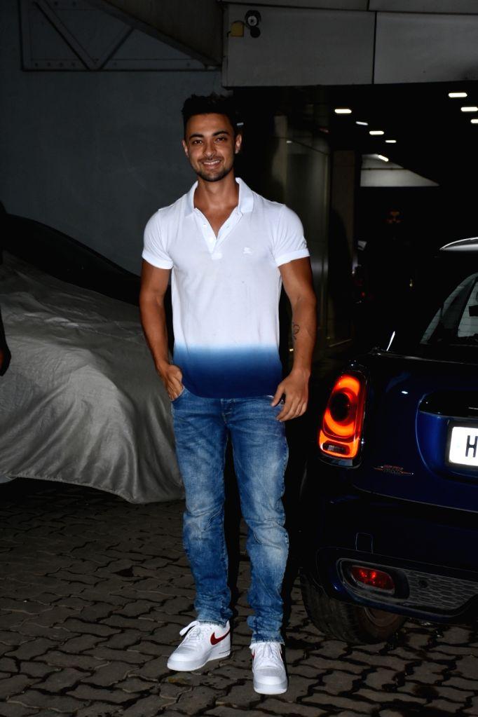 Actor Aayush Sharma seen outside Sohail Khan's house, in Mumbai, on June 16, 2019. - Aayush Sharma and Sohail Khan