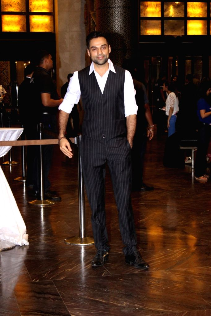 Actor Abhay Deol during the wedding reception of Preity Zinta and Gene Goodenough in Mumbai, on May 13, 2016. - Abhay Deol and Preity Zinta