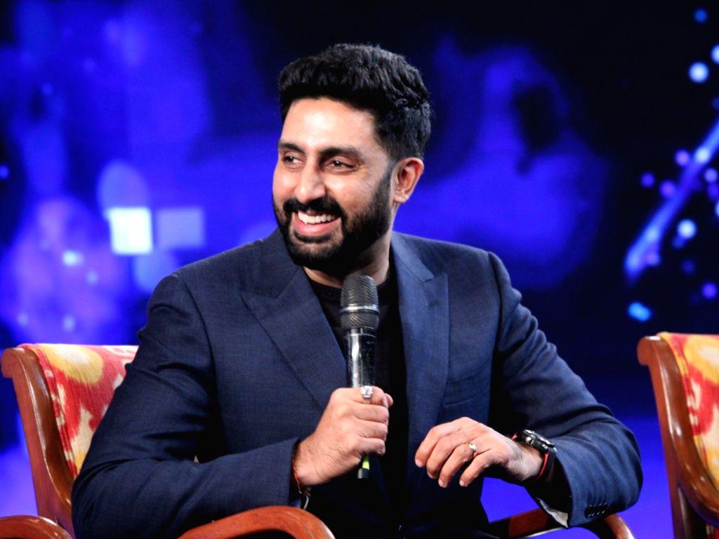 """Actor Abhishek Bachchan at """"NDTV Yuva 2018"""", in New Delhi on Sept 16, 2018. - Abhishek Bachchan"""
