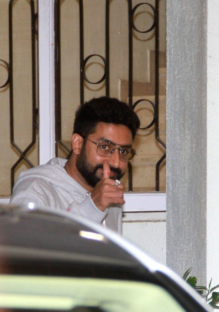 """Actor Abhishek Bachchan at the special screening of upcoming film """"102 Not Out"""" in Mumbai on May 1, 2018. - Abhishek Bachchan"""