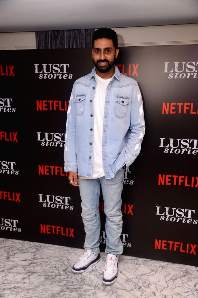 """Actor Abhishek Bachchan at the special screening of Netflix show titled """"Lust Stories"""" in Mumbai on June 13, 2018. - Abhishek Bachchan"""
