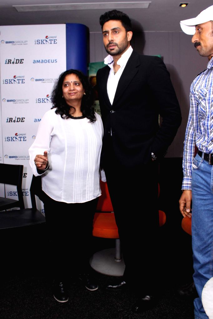 Actor Abhishek Bachchan during a press conference to promote his upcoming film `All is Well` in Gurgaon, on Aug 10, 2015. - Abhishek Bachchan