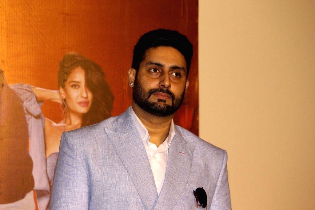 Actor Abhishek Bachchan during the press conference of film Housefull 3, in Mumbai, on June 2, 2016. - Abhishek Bachchan