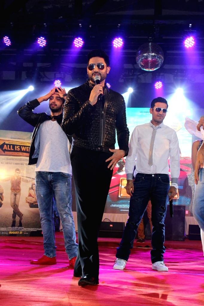 Actor Abhishek Bachchan during the promotion of film All Is Well at the college festival Umang 2015, in Mumbai on August 14, 2015.