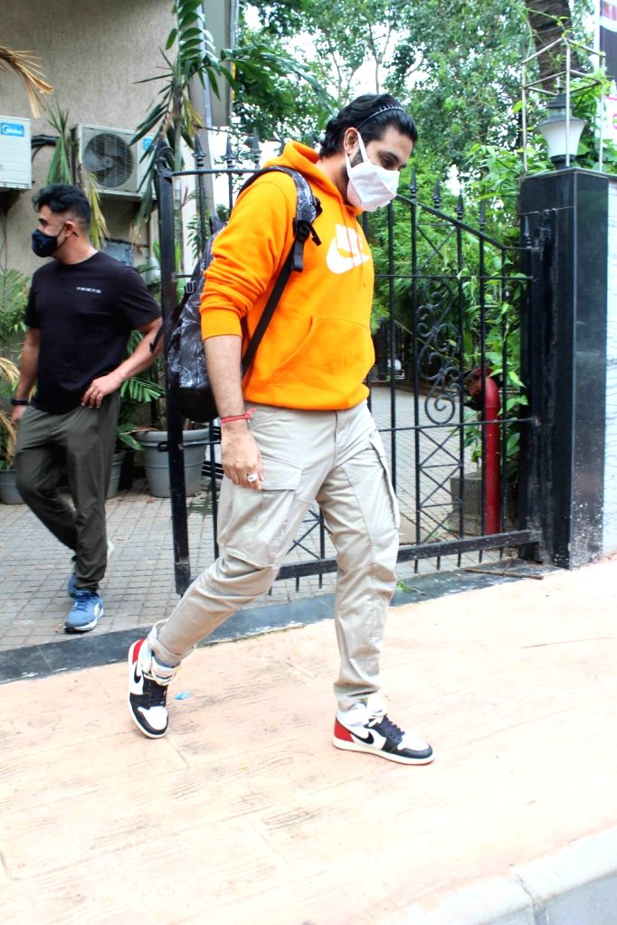 Actor Abhishek Bachchan seen at a dubbing studio in Mumbai's Juhu on June 28, 2020. - Abhishek Bachchan