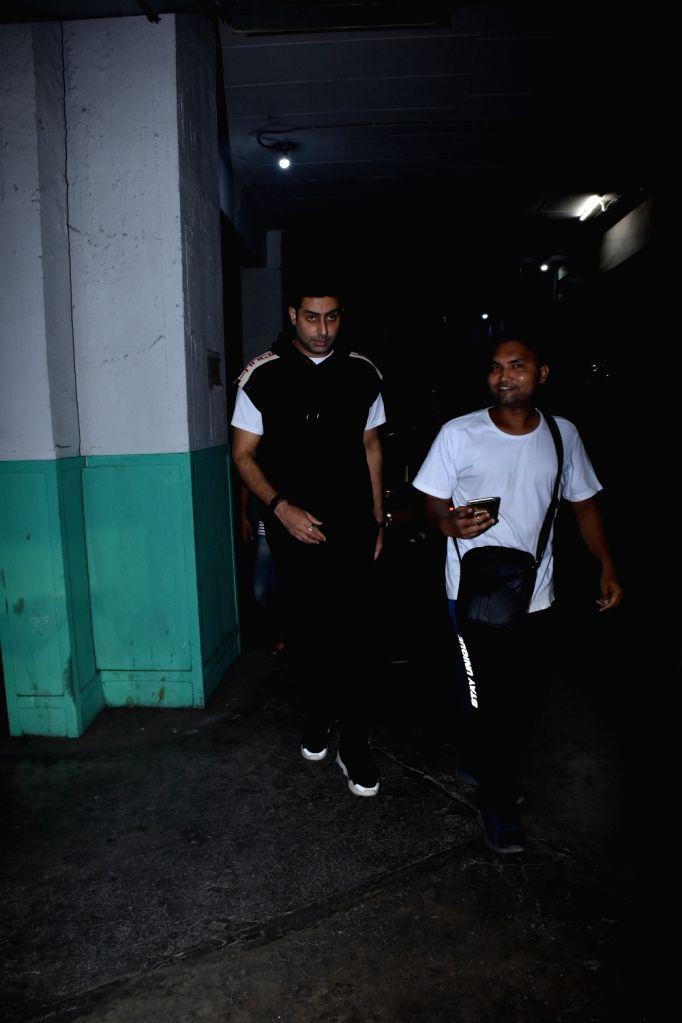 Actor Abhishek Bachchan seen at Juhu, in Mumbai, on June 2, 2019. - Abhishek Bachchan