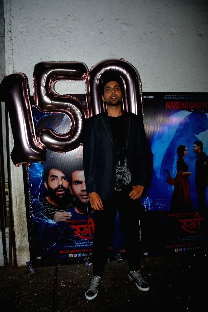 """Actor Abhishek Banerjee at success party of his film """"Stree"""" in Mumbai on Sept 18, 2018. - Abhishek Banerjee"""