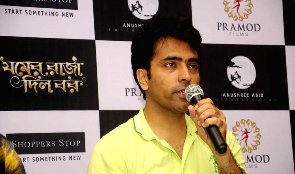 Actor Abir Chatterjee during promotions of his film `Jomer Raja Dilo Bor` in Kolkata, on Aug 14, 2015. - Abir Chatterjee