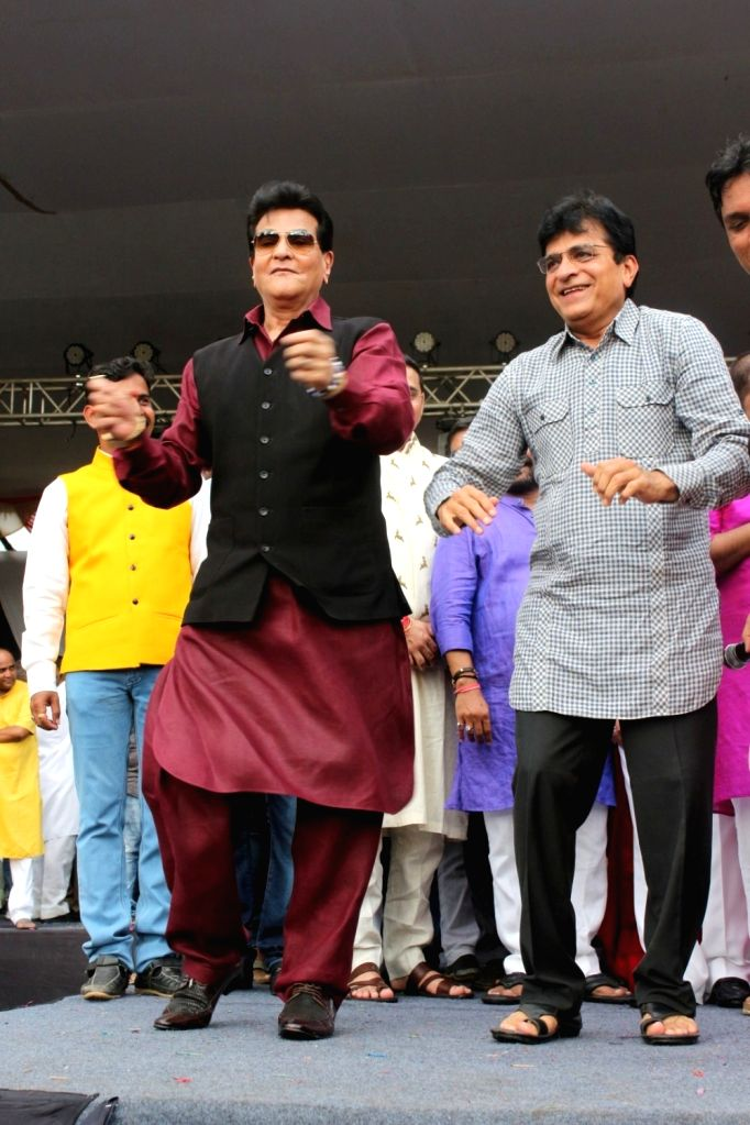 """Actor Actor Jeetendra during the song launch of upcoming film """"Daddy"""" in Mumbai on Aug 15, 2017. - Actor Jeetendra"""