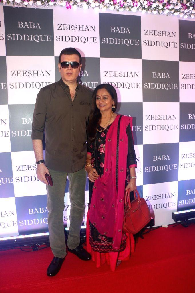 Actor Aditya Pancholi and his wife-actress Zarina Wahab at Congress leader Baba Siddique's Iftar party in Mumbai, on June 2, 2019. - Aditya Pancholi