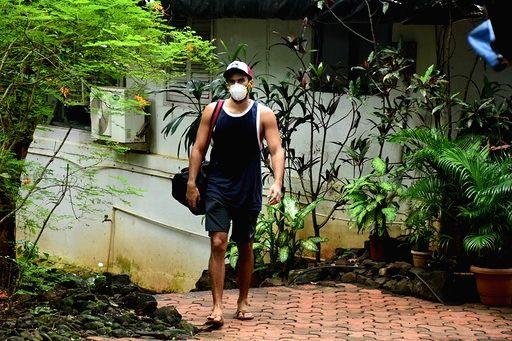 Actor Aditya Roy Kapoor seen at Bandra in Mumbai on Sep 19, 2020. - Aditya Roy Kapoor