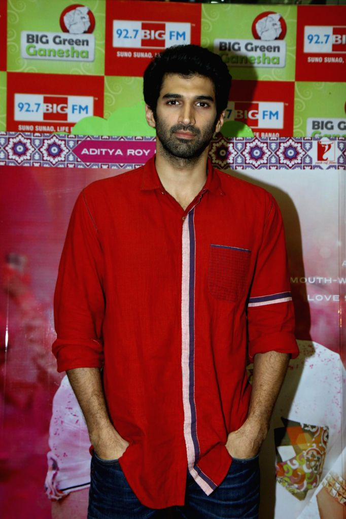 Actor Aditya Roy Kapur during the promotion of film Daawat-e-Ishq at 92.7 BIG FM office in Mumbai on 10 Sept, 2014. - Aditya Roy Kapur