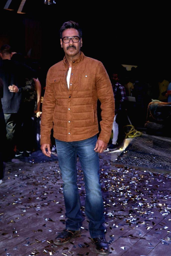 "Actor Ajay Devgan during the promotion of his upcoming film ""Golmaal Again"" on the sets of Khatron Ke Khiladi in Mumbai on Sept 19, 2017. - Ajay Devgan"