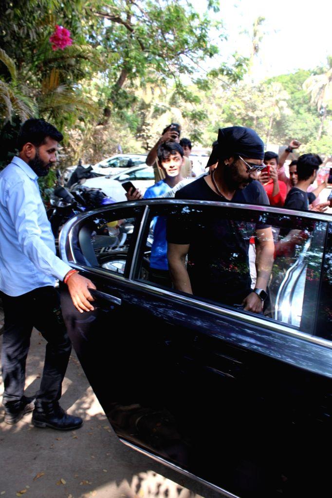Actor Ajay Devgan seen in Mumbai's Versova, on March 13, 2019. - Ajay Devgan