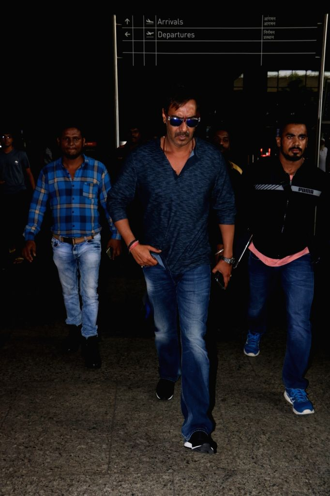 Actor Ajay Devgan spotted at Chhatrapati Shivaji Maharaj International airport in Mumbai. - Ajay Devgan