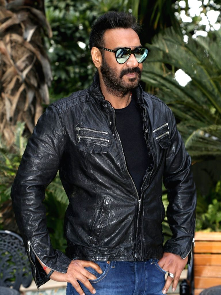"""Actor Ajay Devgn at the promotional interview of his upcoming film """"Total Dhamaal"""" in New Delhi, on Feb 18, 2019. - Ajay Devgn"""