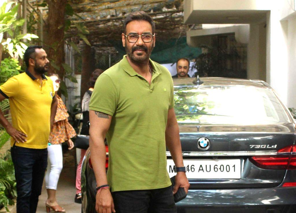 "Actor Ajay Devgn at the screening of his upcoming film ""De De Pyaar De"", in Mumbai, on May 12, 2019. - Ajay Devgn"
