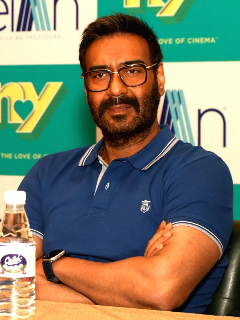 Actor Ajay Devgn during a press conference in New Delhi on May 15, 2019. - Ajay Devgn