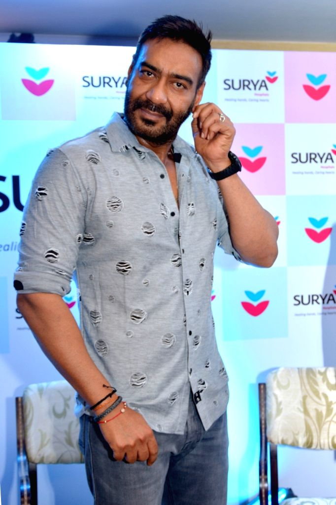 Actor Ajay Devgn during a promotional programme in Jaipur, on June 13, 2018. - Ajay Devgn