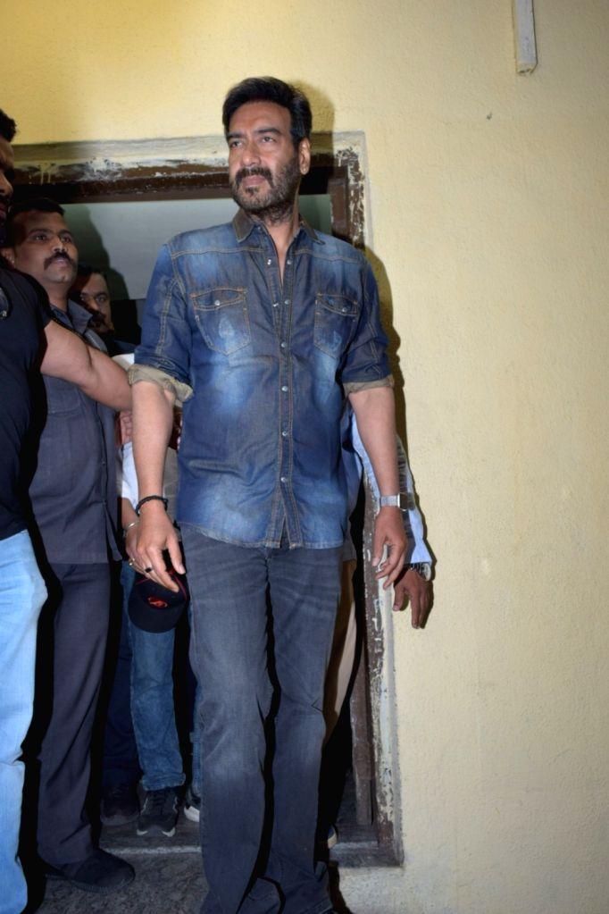 "Actor Ajay Devgn during the screening of his film ""Tanhaji: The Unsung Warrior"" in Mumbai on Jan 9, 2020. - Ajay Devgn"