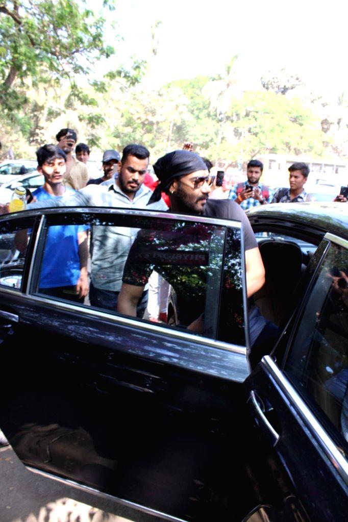 Actor Ajay Devgn seen at Mumbai's Versova, on March 13, 2019. - Ajay Devgn
