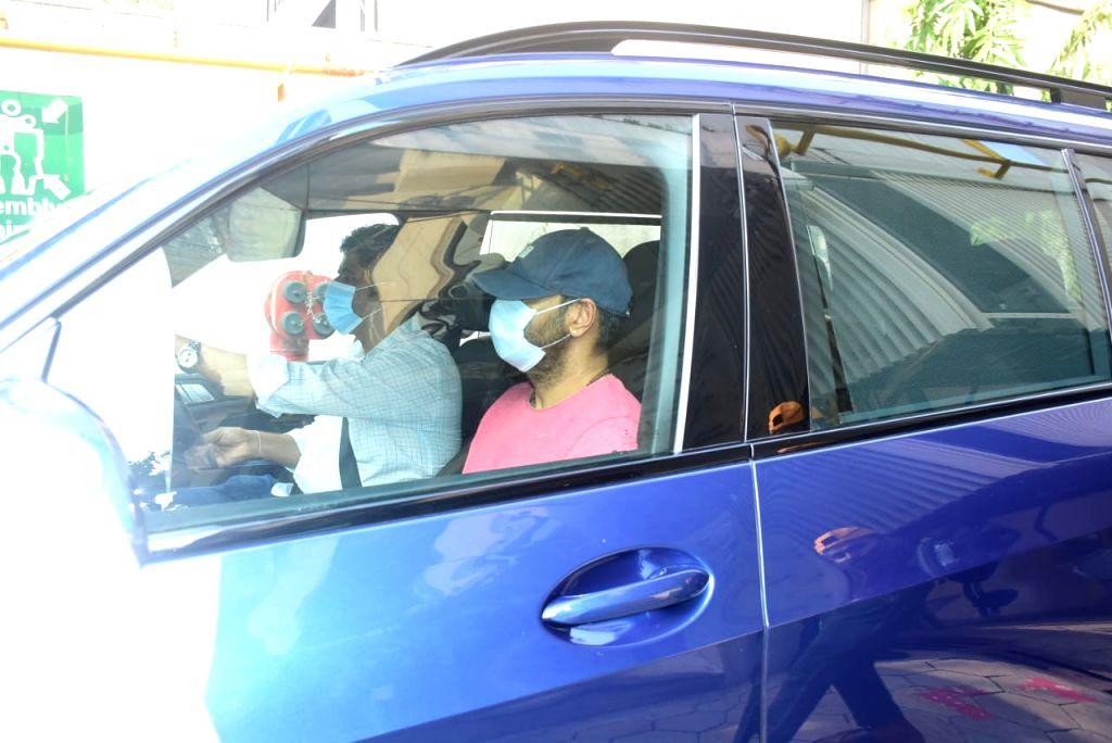 Actor Ajay Devgn seen at Santacruz in Mumbai on Oct 19, 2020. - Ajay Devgn