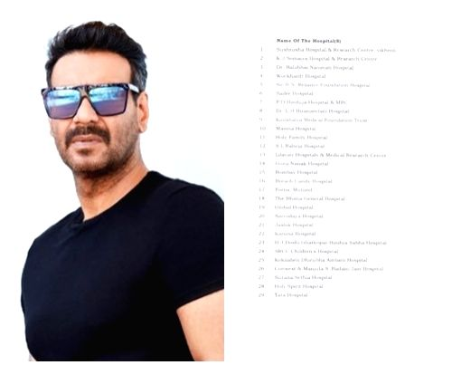 Actor Ajay Devgn took to Twitter on Wednesday to announce the additional centres in Mumbai for Covid-19 vaccination. The actor says that besides Brihanmumbai Municipal Corporation (BMC) centres, ... - Ajay Devgn