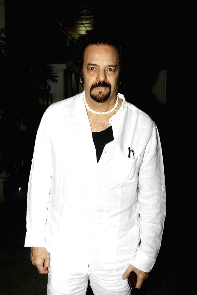 Actor Akbar Khan during the screening of film Jaanisaar in Mumbai, on August 6, 2015. - Akbar Khan
