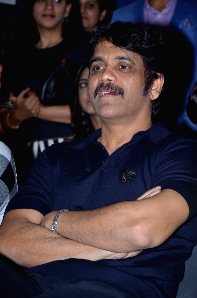 Actor Akkineni Nagarjuna during the launch of Colossal Abstracts by Bharat Thakur's Art Exhibition. - Akkineni Nagarjuna