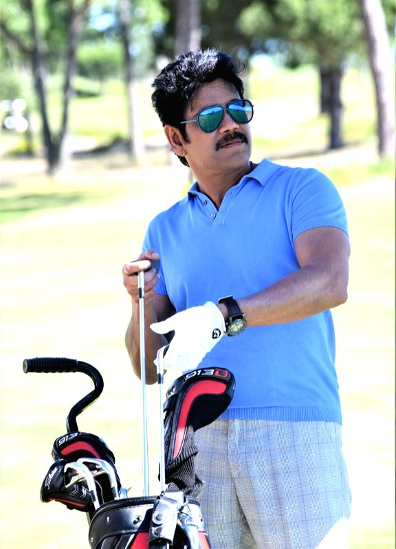 "Actor Akkineni Nagarjuna stills from Telugu film ""Manmadhudu 2"" in Hyderabad. - Akkineni Nagarjuna"