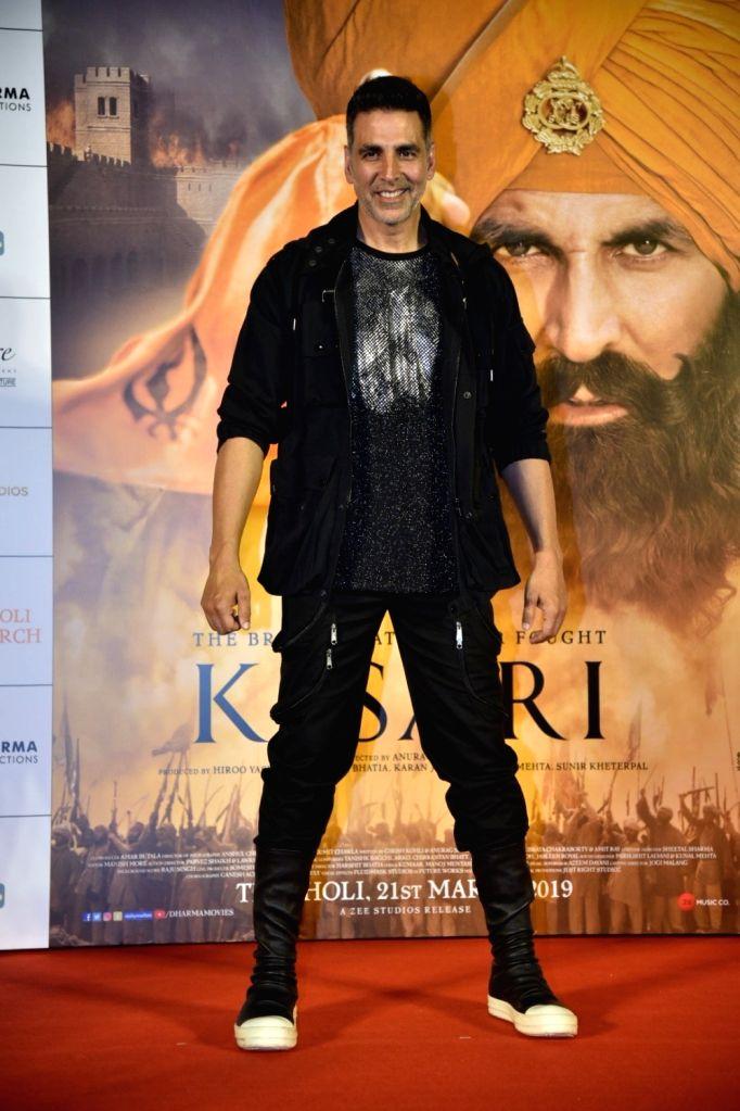 "Actor Akshay Kumar at a press conference of his upcoming film ""Kesari"" in Mumbai, on March 15, 2019. - Akshay Kumar"