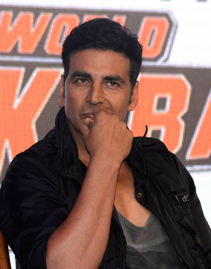 Actor Akshay Kumar at the announces of `World Kabaddi League` in New Delhi on July 24, 2014. - Akshay Kumar