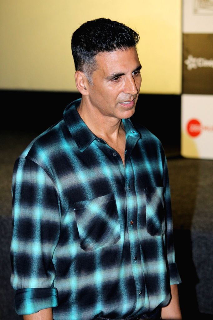 "Actor Akshay Kumar at the trailer launch of his upcoming film ""Mission Mangal"" in Mumbai, on July 18, 2019. - Akshay Kumar"