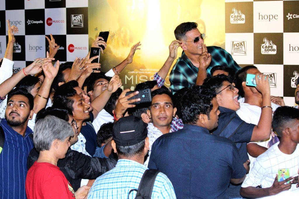 "Actor Akshay Kumar at the trailer launch of his upcoming film ""Mission Mangal"" in Mumbai, on July 18, 2019. - Akshay Kumar"