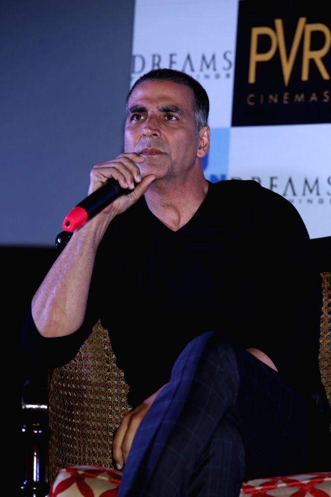 """Actor Akshay Kumar during a press conference to promote his upcoming film """"Pad Man"""" in New Delhi on Feb 5, 2018. - Akshay Kumar"""