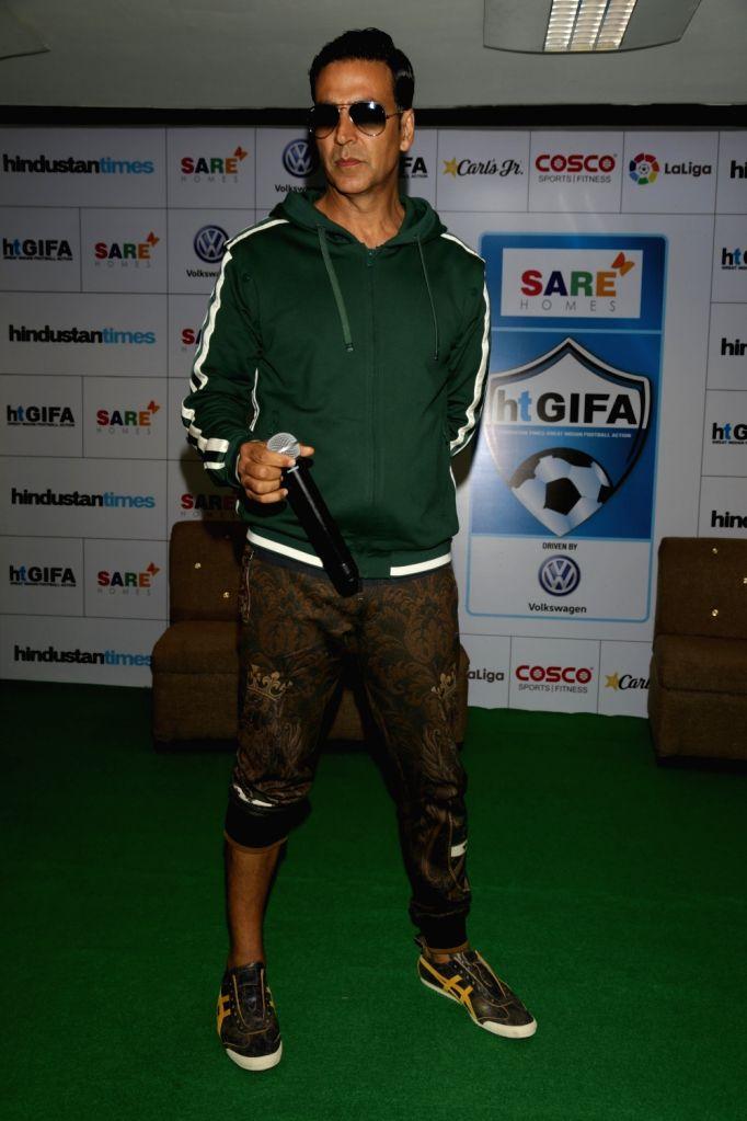 Actor Akshay Kumar during a program in New Delhi, on Sept. 16, 2017. - Akshay Kumar